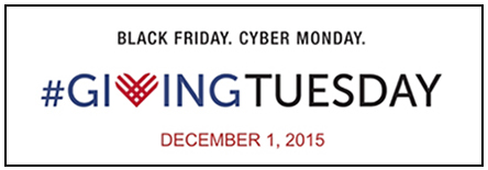 Please Join Us in Giving Back on Giving Tuesday.