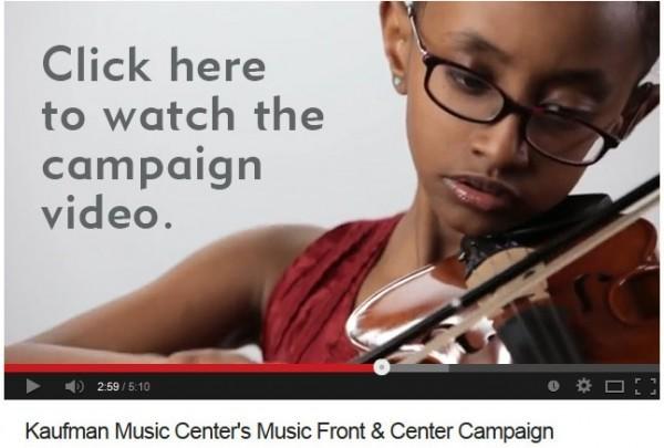 Kaufman Music Center's Music Front & Center campaign