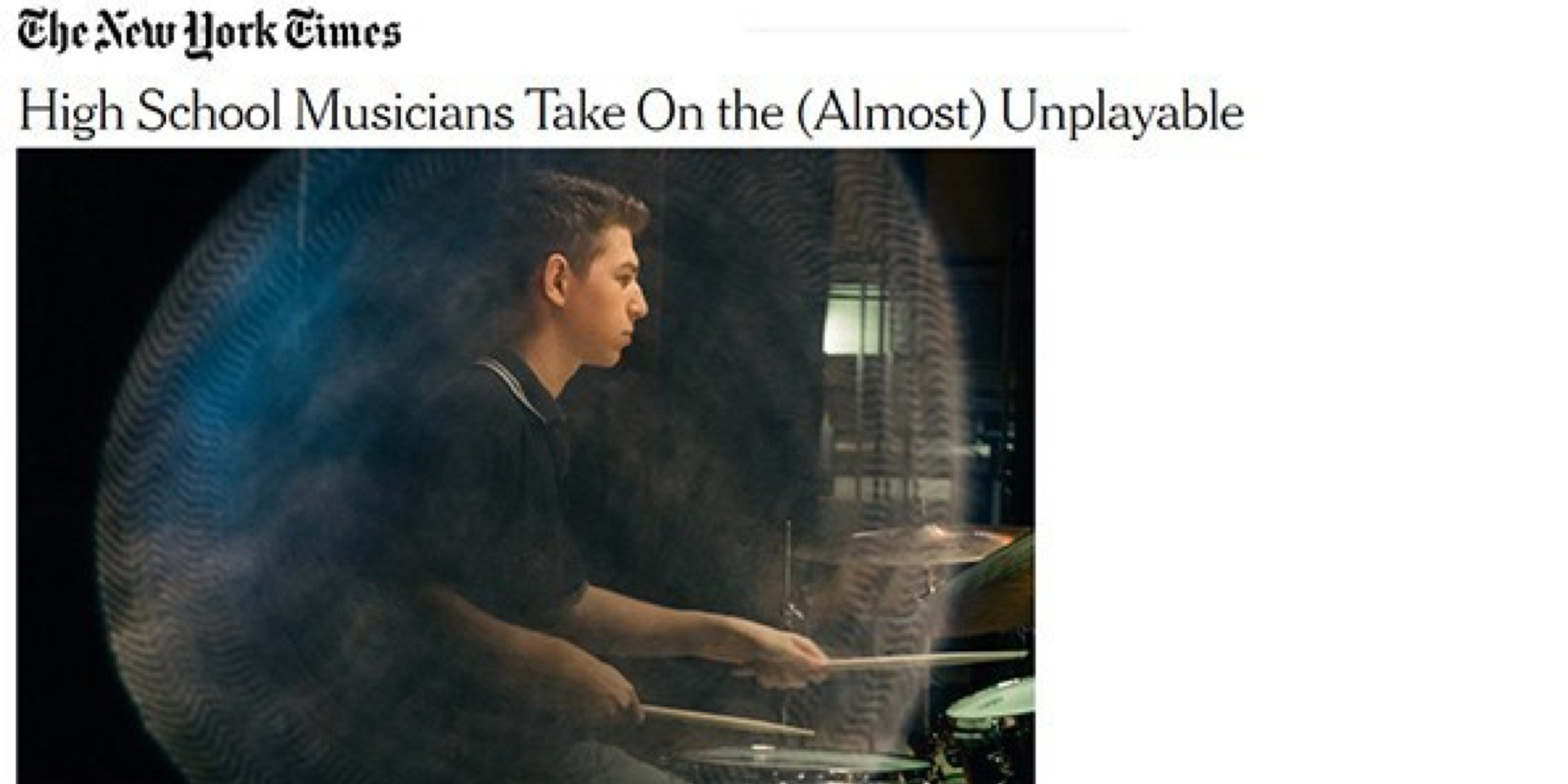 Read About Kaufman's Youth New Music Ensemble Face the Music in the New York Times!