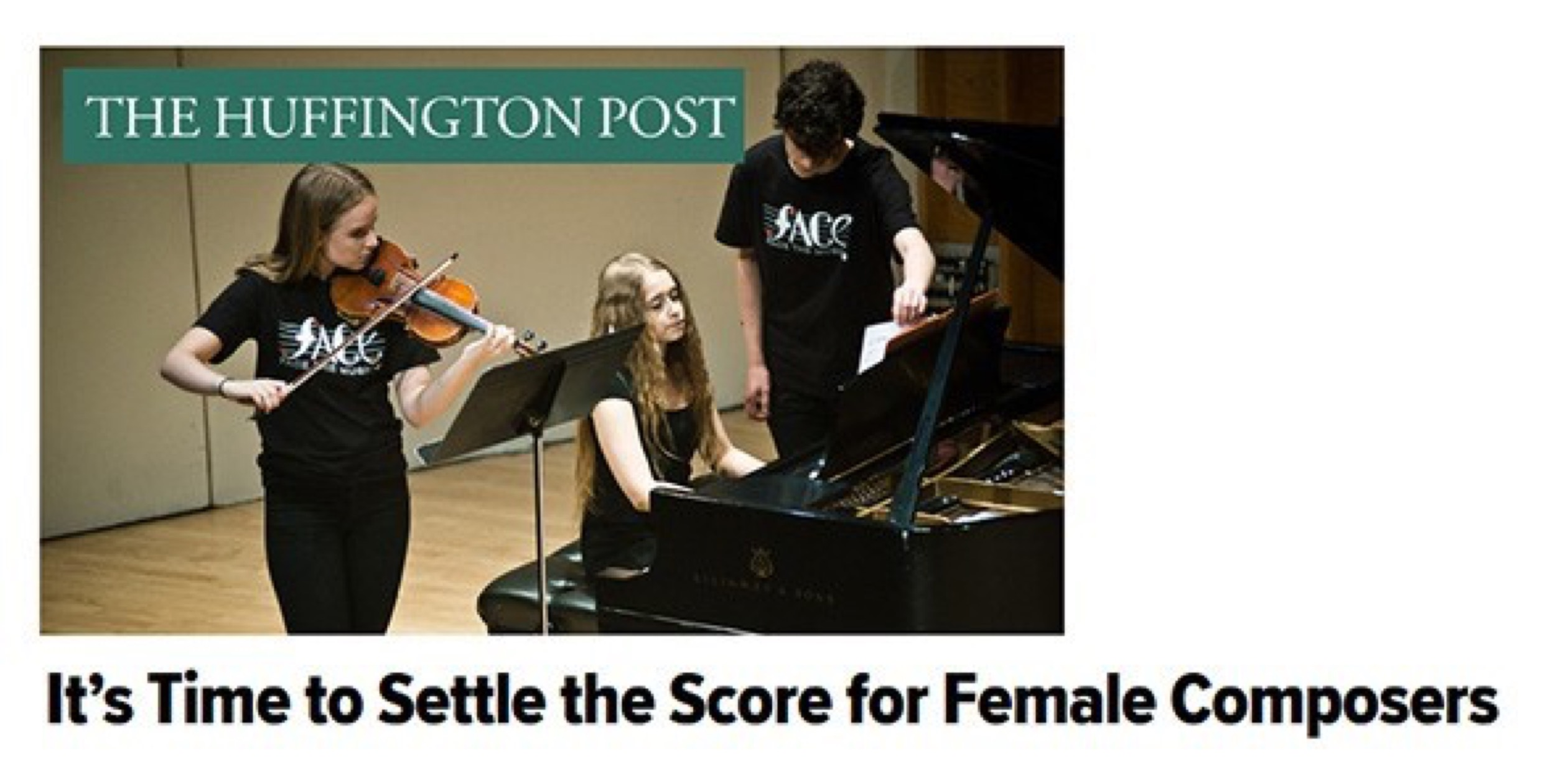 Kaufman Music Center Executive Director Lydia Kontos in The Huffington Post