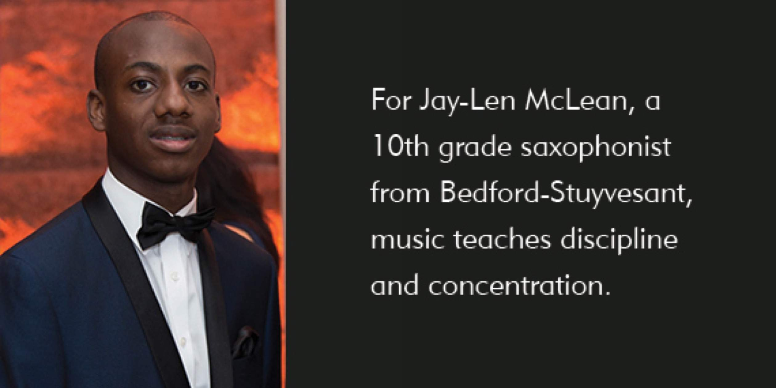 Meet Jay-Len McClean, saxophonist and SMS 10th grader